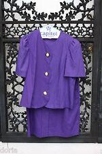 David Rose Two Piece Suit, Vintage, Royal Purple, Size 16