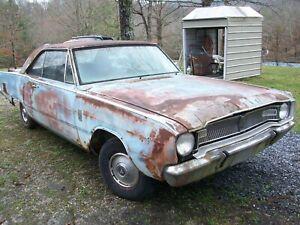 1967 Dodge Dart GT 273 V8 AT 67 2dr HT w/paperwork Barn Find Salvage Parts Car