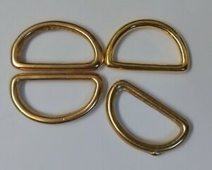 """Genuine British Military Issue 1"""" Sam Browne Long D Rings Loops X4 Pieces STD252"""