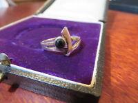 Toller 925 Silber Ring Onyx Cabochon Kugel Schwarz Modern Super Design Chic Top