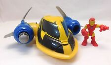 Playskool Marvel Super Hero Adventure X-Man Wolverine Rescue Jet with Iron Man