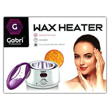 Gabri professional wax heater. Hair removal. White. Depilatory. Salon. Barber