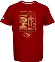 San Francisco 49ers T-Shirt Tee,NFL Football,100% BW,Logo,Team,from Majestic