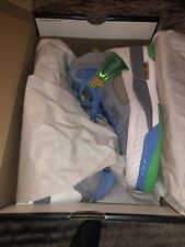 NIKE AIR JORDAN Spizike men's shoes (Easter) size 9.5poison green, stealth blue