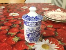 Spode Blue Room Blue Rose Spice Jar  Best Discontinued Chipped Base