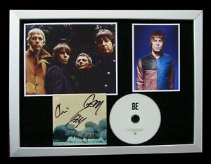 LIAM GALLAGHER+BEADY EYE+SIGNED+FRAMED+BE+OASIS=100% AUTHENTIC+FAST GLOBAL SHIP