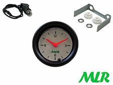 52MM 12V CAR CLOCK GAUGE WHITE FACE CLASSIC KIT CAR MLR.AZK