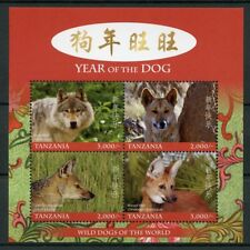 Tanzania 2017 MNH Year of Dog Wolf Dingo 4v M/S II Chinese Lunar New Year Stamps