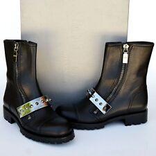 Alexander McQueen New sz 38.5 8.5 Designer Womens Combat Biker Ankle Boots Black