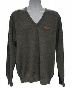 Vintage Pringle Scotland V-Neck Pullover Sweater Mens Lambswool US Open 46 117
