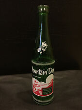 """Vintage ***RARE*** Mountain Dew Glass Bottle """"Filled By Ed And Tony"""" 10oz"""