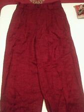 000 Vintage Stringbean 1314 Womans Juniors Pants Funky Red Black Usa Made