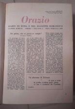 RILEGATURA GIORNALE ORAZIO DIARIO DI ROMA E DIALETTO ROMANESCO 1951 1952 1953