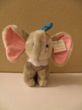 "Vintage 1985 Plush Walt Disney 7"" Animated Film Classic Dumbo with hang tag"