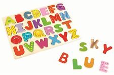 Lelin Letters Puzzle Board Wooden Uppercase Alphabet Learning For Children Kids