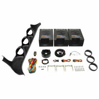 GlowShift Oil Pressure, Water Temp, Volt Gauges + Pod for 87-91 Ford F-Series