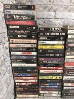 Lot of 83 Rock Metal Pop Country Rap Cassette Tapes Beatles Prince Queen Jackson