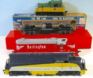 4 HO Locomotives Working to Various Degrees