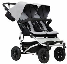 Mountain Buggy Duet Compact All Terrain Twin Baby Double Stroller 2017 Silver