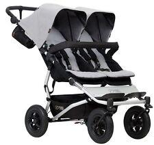 Mountain Buggy Duet Compact All Terrain Twin Baby Double Stroller 2017 Silver