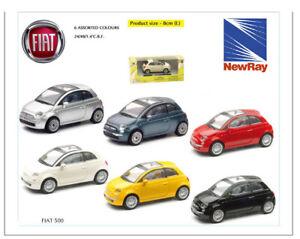 New Ray Modellino Auto Fiat 500 Scala 1:43 Die Cast Auto Giocattolo