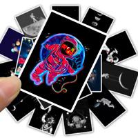 50 Cartoon Mond Moon Stickerbomb Aufkleber Sticker Mix Decals space Black White