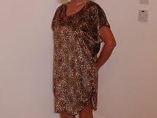 Leopard / Cheetah /Animal Print Velour  Nightshirt 16/18