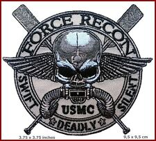 VELC. Force Recon USMC Military Marine Swift -Deadly - Silent Skull Patch