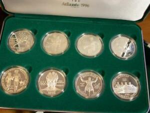 1996 U.S. Olympic $1 Silver Dollar Coins of the Atlanta Centennial Games 8 coins