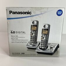 Panasonic Dual Handsets Cordless Phone Answering Machine KX-TG1032 IN BOX