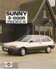 NISSAN SUNNY PREMIUM 3-Dr 1.4 LIMITED EDITION 1989 Regno Unito delle vendite sul mercato opuscolo