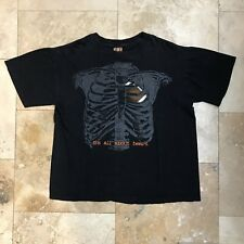 "Vintage Skeleton Football T-Shirt ""It's All About Heart"" Size Large TSI 90s"