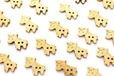 BT00004170 3 x 38mm /'Horse/'s Face/' Large Round Wooden Buttons