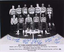 Washington Bullets Team Autographs 16x20 Photo Hayes Henderson Wizards 77 Auto
