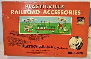 Bachmann 1952 Plasticville USA Railroad Accessories Set RR-5-498 InOrigBox RARE