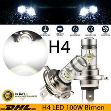 2x 100W H4 LED Scheinwerfer Kit HI-LO Beam Fern / Abblendlicht Birnen 12V-24V