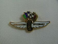 Indianapolis Motor Speedway Wings Wheel & Flags Logo Collector Tie / Lapel Pin