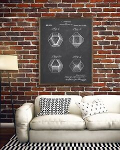 Board Game Dice Patent Print, Dungeons and Dragons, DnD Dice Blueprint, Man Cave