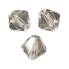 10 Perles Toupies 6mm Cristal Swarovski  GREIGE  5328 XILION
