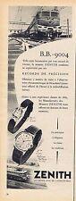 PUBLICITE ADVERTISING 114 1956 ZENITH montres 1
