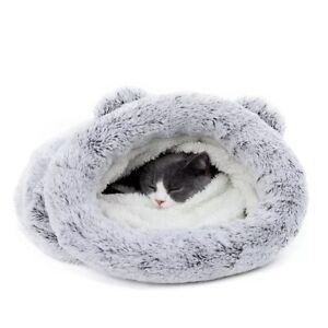 Cat Sleeping Bag Puppy Mat Warm Dog Bed Soft Pad Pet House Washable Plush Nest