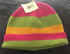 NWT Lucky Brand  Pink  100% Cotton Beanie Cap Hat One Size