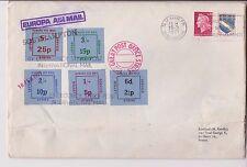 France 1971 grève cover with special strike timbres plié