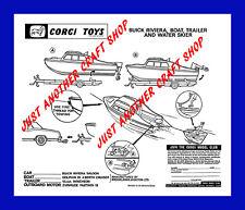 Corgi Toys Gift Set GS 31 Buick Riviera Boat Instruction Leaflet pamphlet