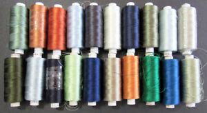 20x Machine Sewing THREAD SULKY Stickma 40 & 30 weight rayon-mixed-ZZ338