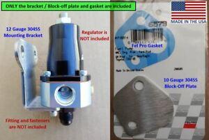 Bracket / block off plate 304SS for Aeromotive fuel pressure regulator 13129 105