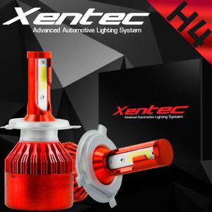 2 PCS COB H4 9003 8000LM 72W LED Car Headlight Kit Hi/Lo Beam Light Bulbs 6500K