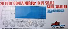 20 foot CONTAINER for Tamiya 1:14 RC Semi Trailers Tractor Trailers Hercules