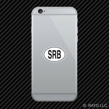 SRB Serbia Country Code Oval Cell Phone Sticker Mobile Serbian euro