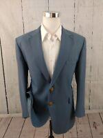 Vintage John Blair Men's Classic Fit Royal Blue Blazer Sport Coat Jacket Sz 42